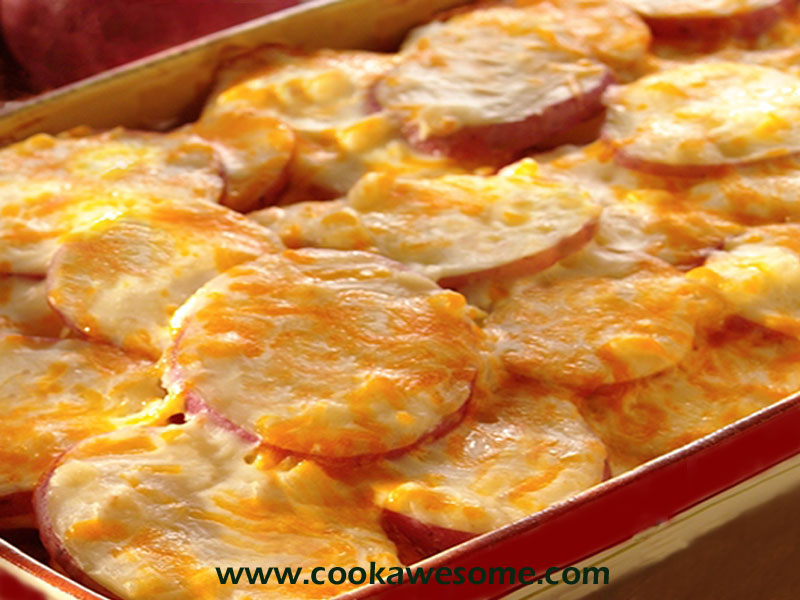 Cheese layered Potatoes Recipe