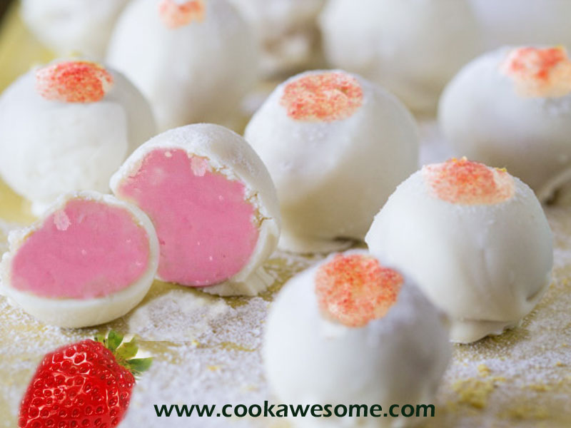 Strawberry Lemonade Truffles