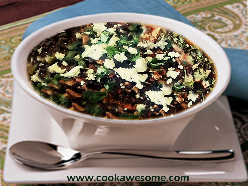 Black beans with Chicken Soup Recipe