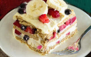 Blueberry Strawberry Banana Ice Cream Cake Recipe