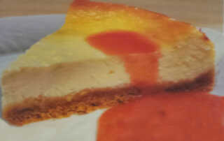 Cheesecake with Strawberry Coulis