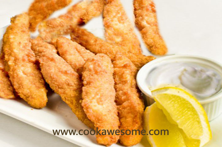 Fish goujons recipe fried fish fillets recipe cookawesome for Fried fish fillet recipes