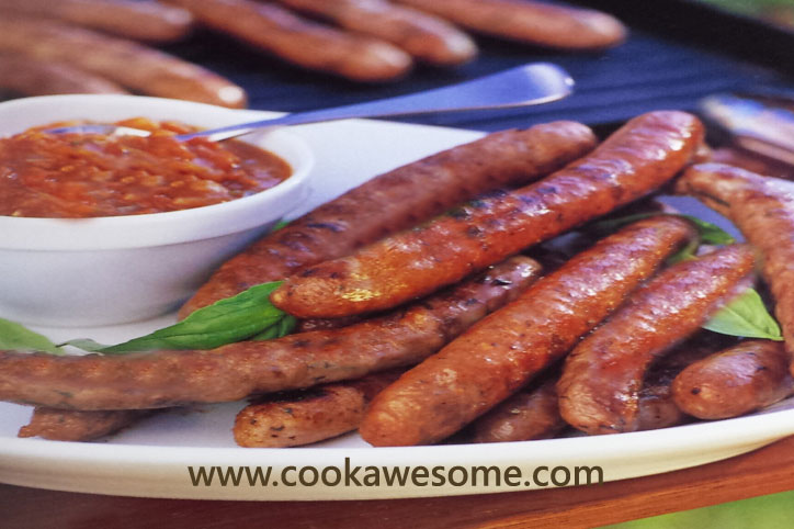 Sausages with Tomato Relish