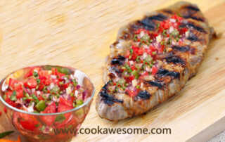 Steaks with Capsicum Salsa
